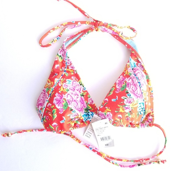 d68038a88ae23 jcpenney Swim | By The Beach Red Floral Top Bikini | Poshmark